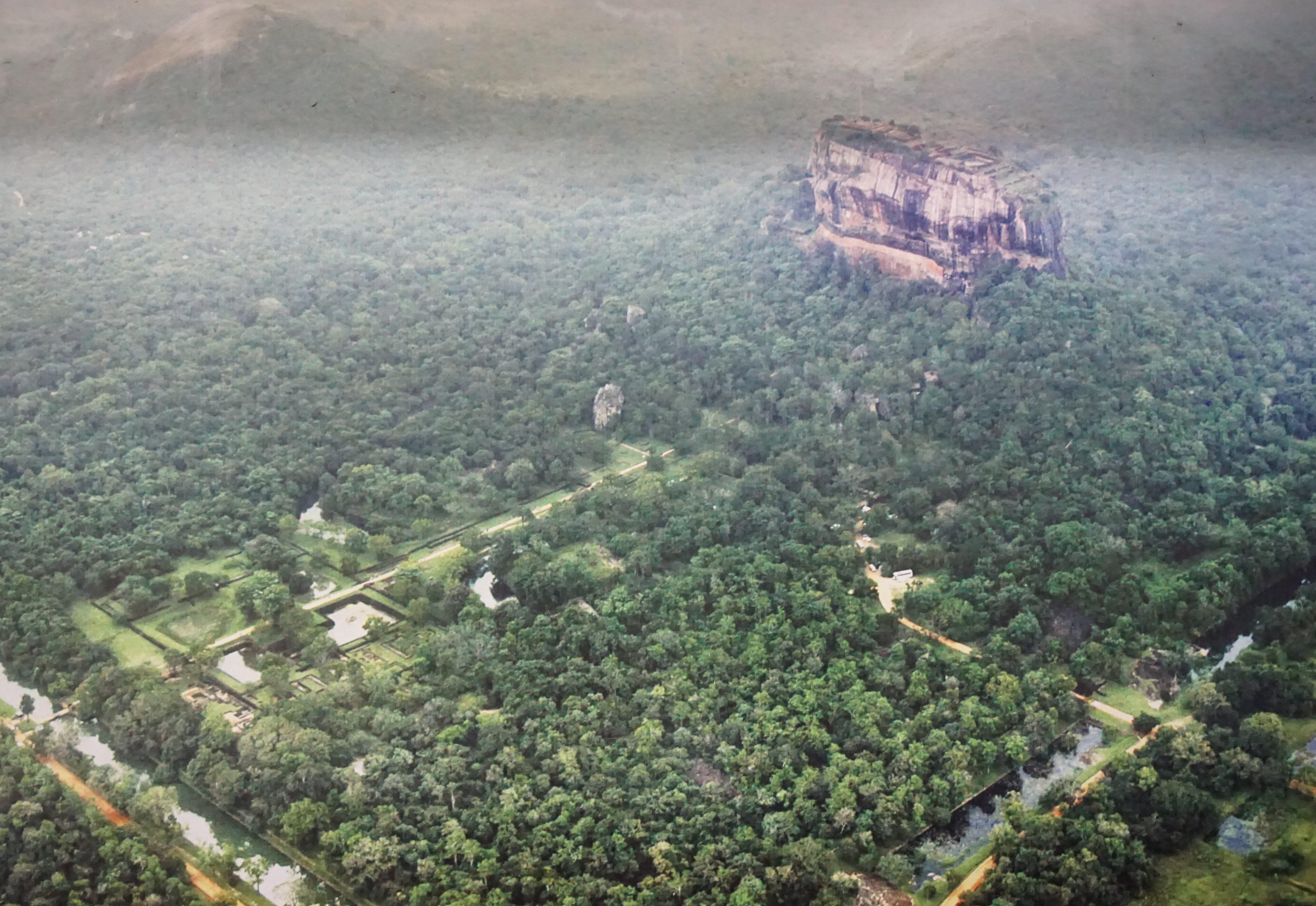 Aerial vieẃ of Sigiriya