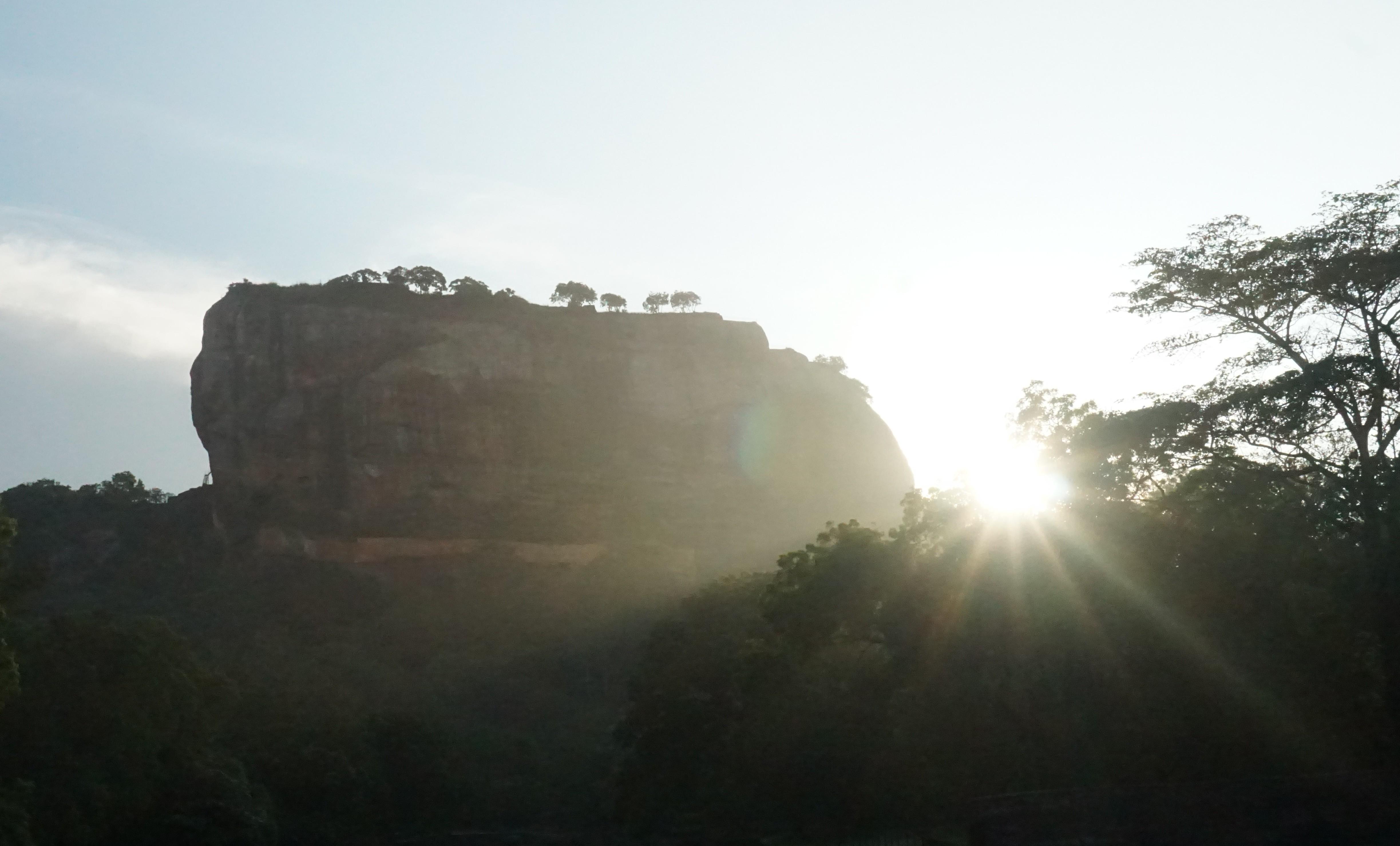 Sigiriya in backlight
