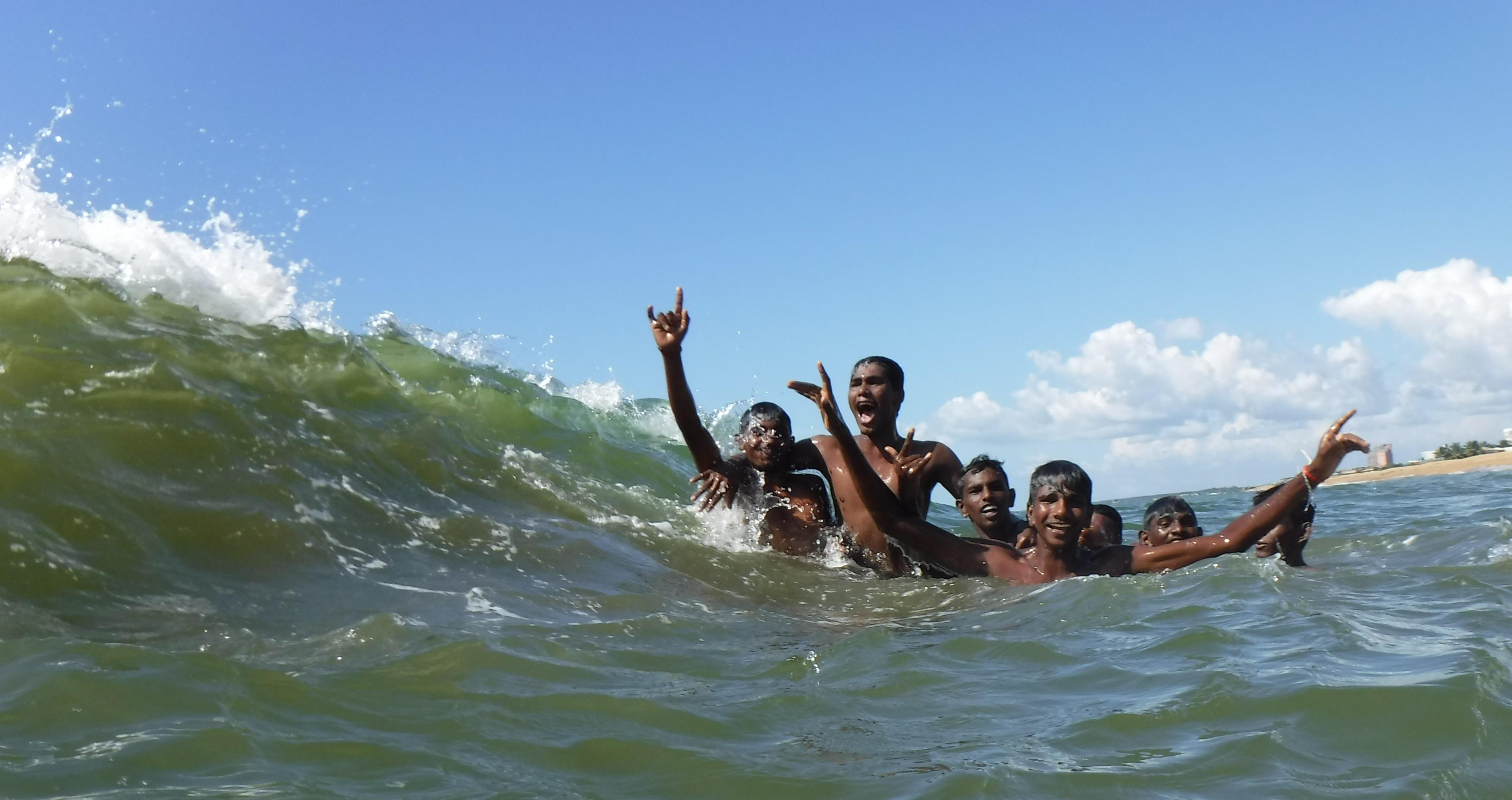 Local bathers