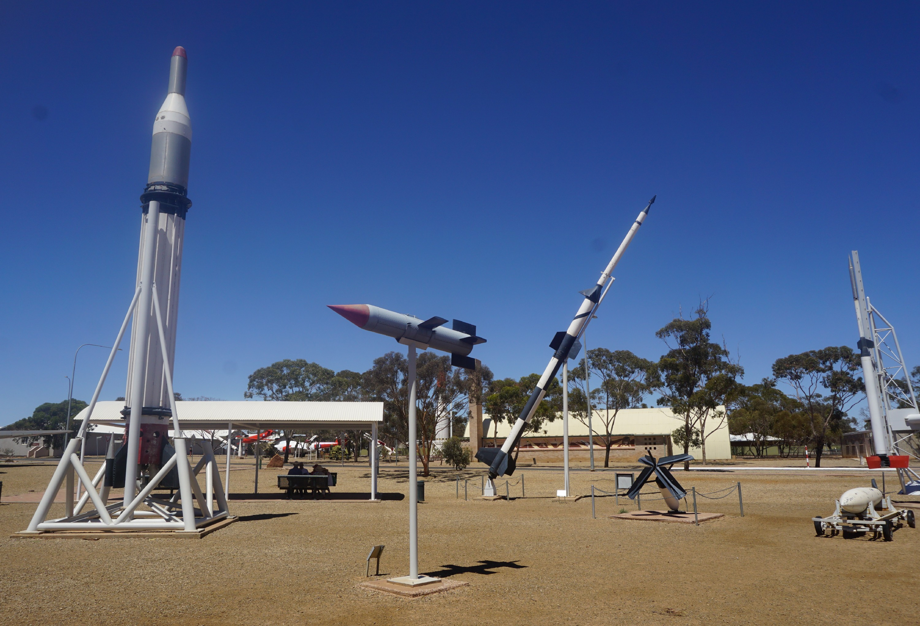 Spaceships and rockets in Woomera